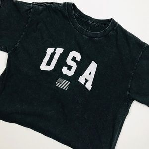 Brandy Melville John Galt USA Crop Top Tee